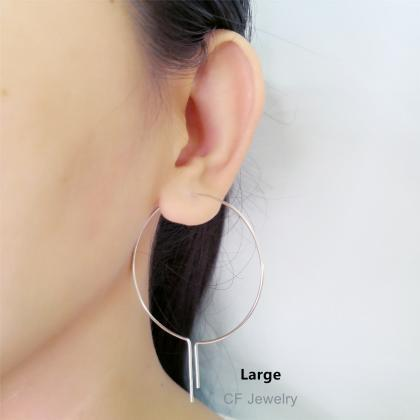 Open Hoop Earrings, Wire Hoop Earri..
